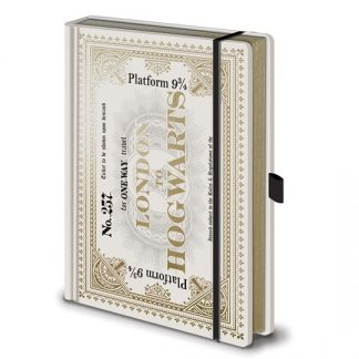 LIBRETA PREMIUM A5 HARRY POTTER HOGWARTS EXPRESS TICKET